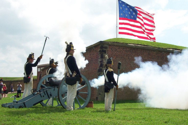 Fort McHenry, Daytime, Cannon, Baltimore, Maryland