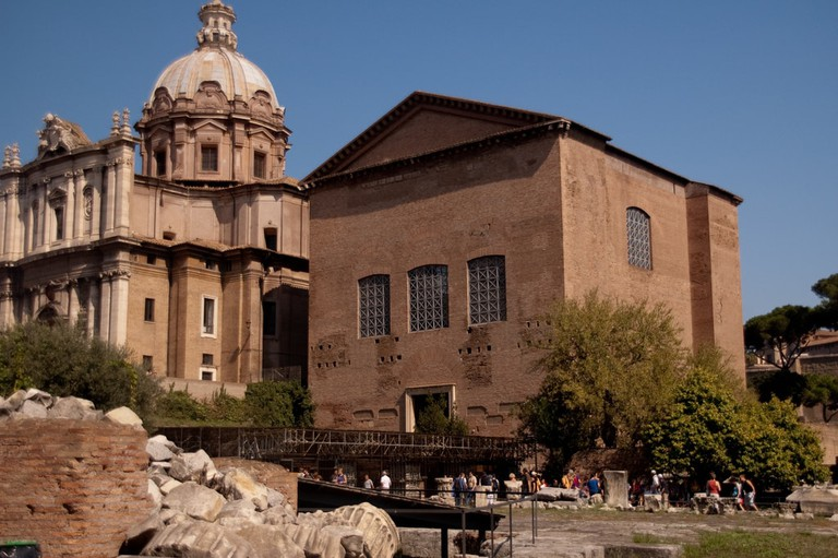 The Curia Julia has been reconstructed to show how it looked in the time of Diocletian