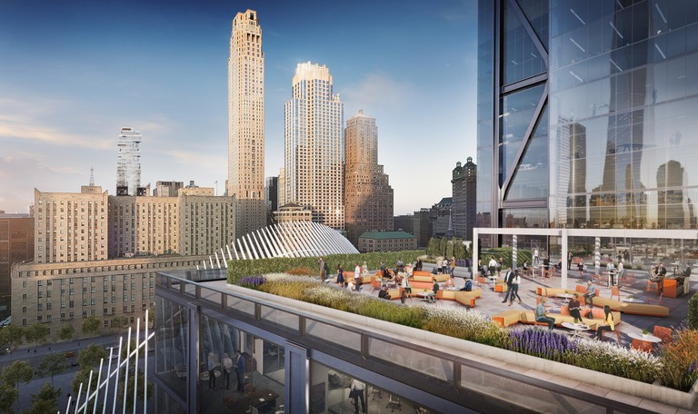 3 World Trade Center, 17th-floor terrace, bird's-eye view