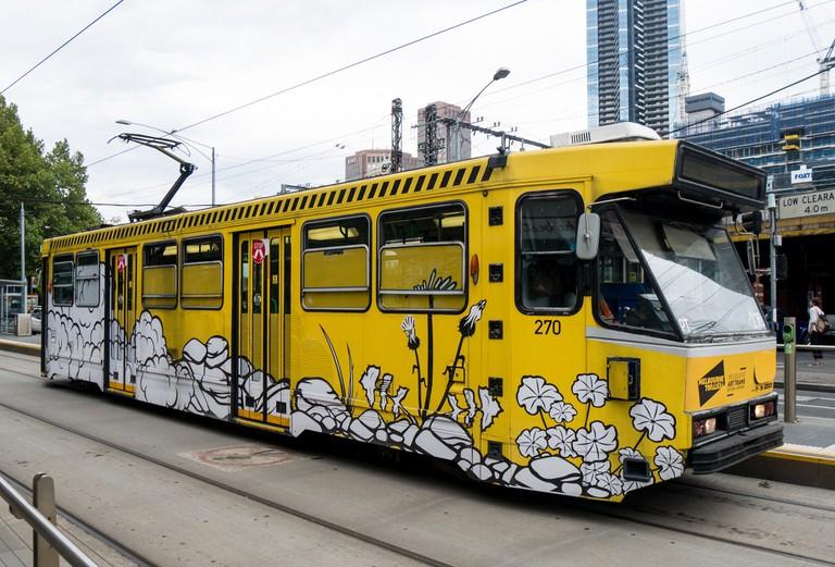 A tram in Melbourne