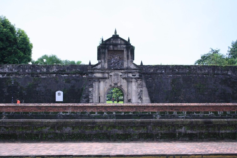 One of the fortified gates and walls of Intramuros