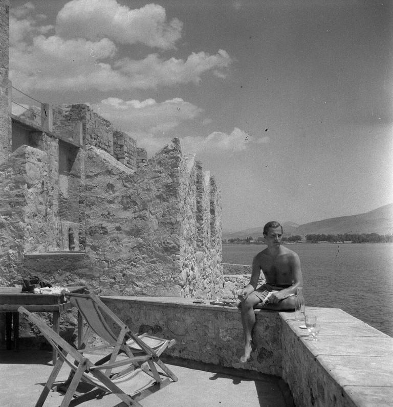 Patrick Leigh Fermor in Nafplion