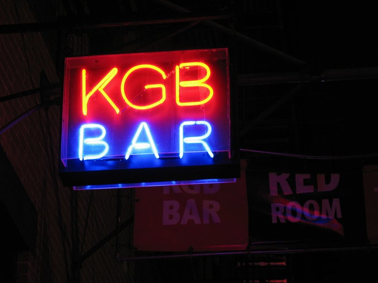 KGB Bar's iconic sign