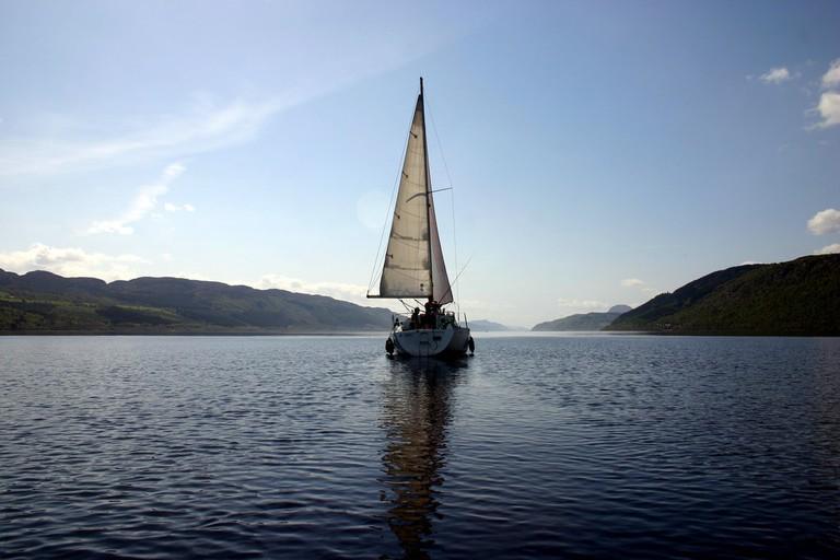Sailing On Loch Ness, Scotland