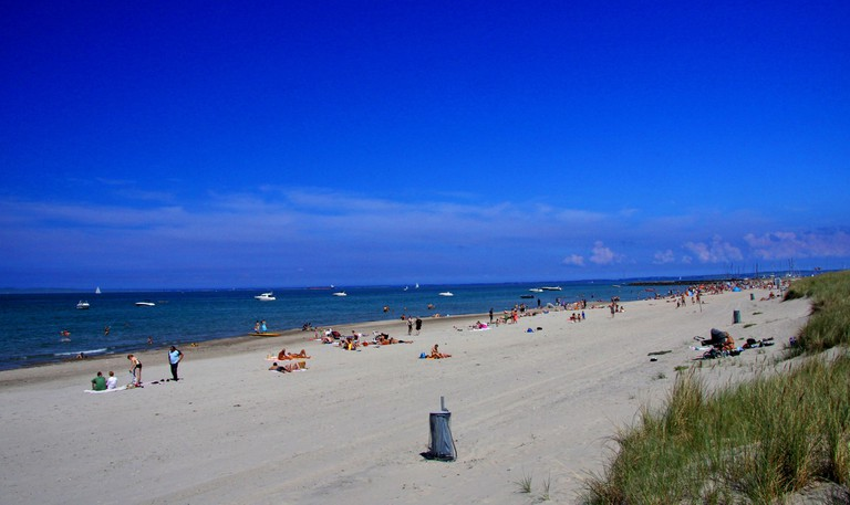 Hornbæk Beach is the largest beach in North Zealand