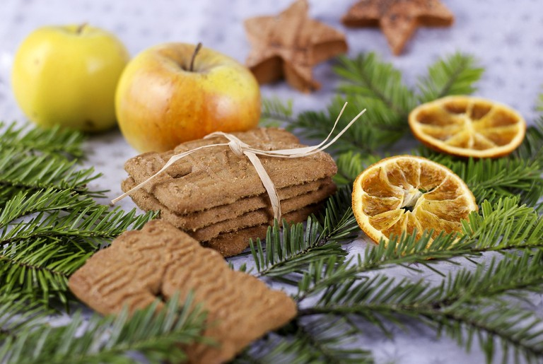 Speculaas cookies are eaten during the festive season in the Netherlands