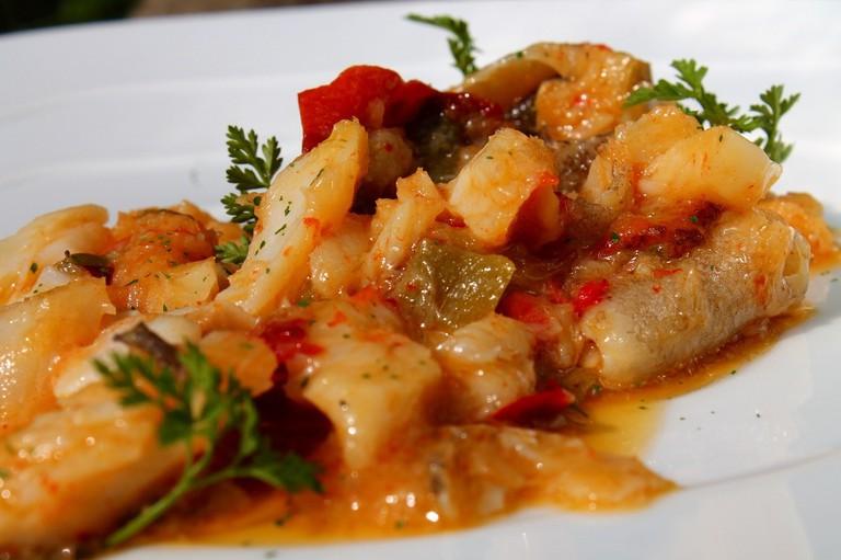 Ajoarriero - dish from Navarra