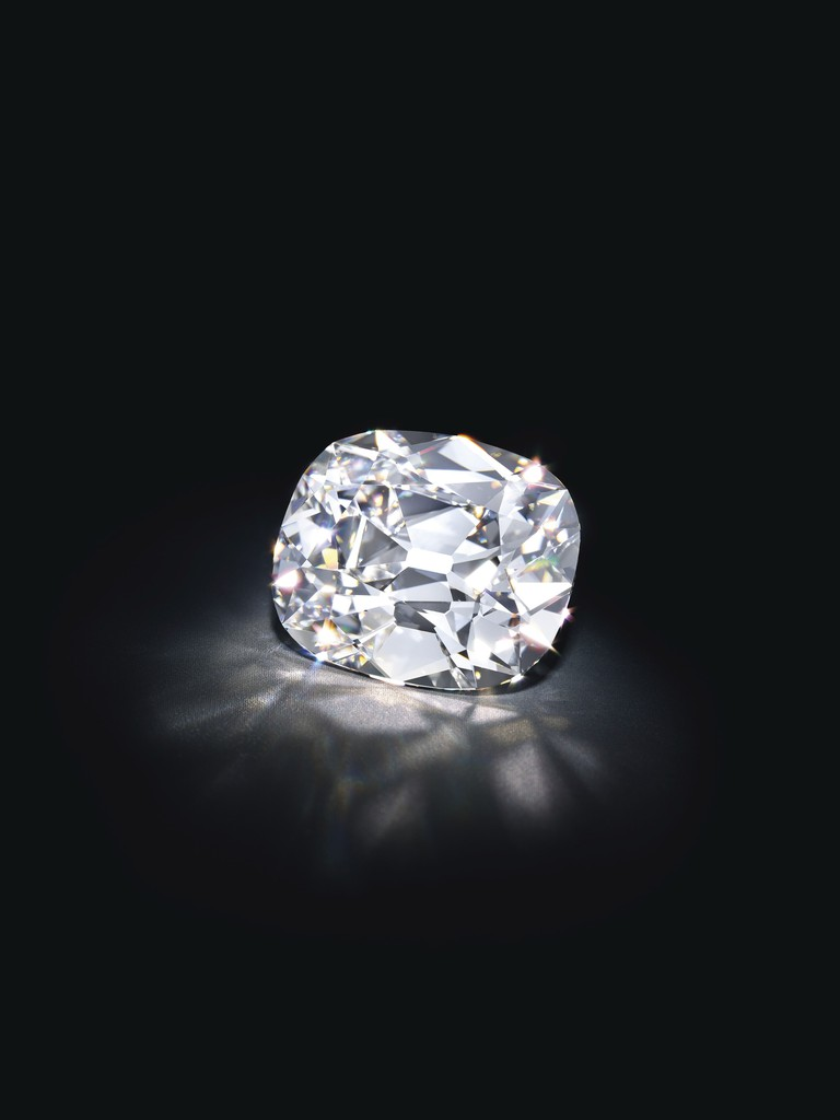 An Old Mine Brilliant-cut Diamond Ring, weighing 20.47 carats, D color, Flawless clarity