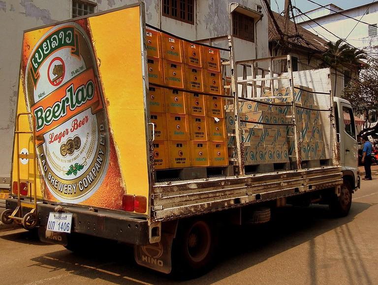 Beer Lao Truck