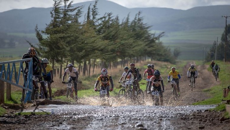 Biking challenge in Mt Kenya