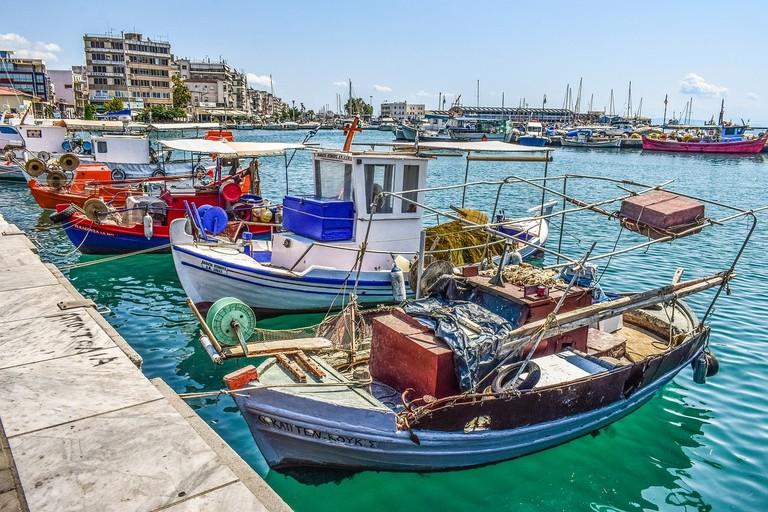 boats, Greece, harbor
