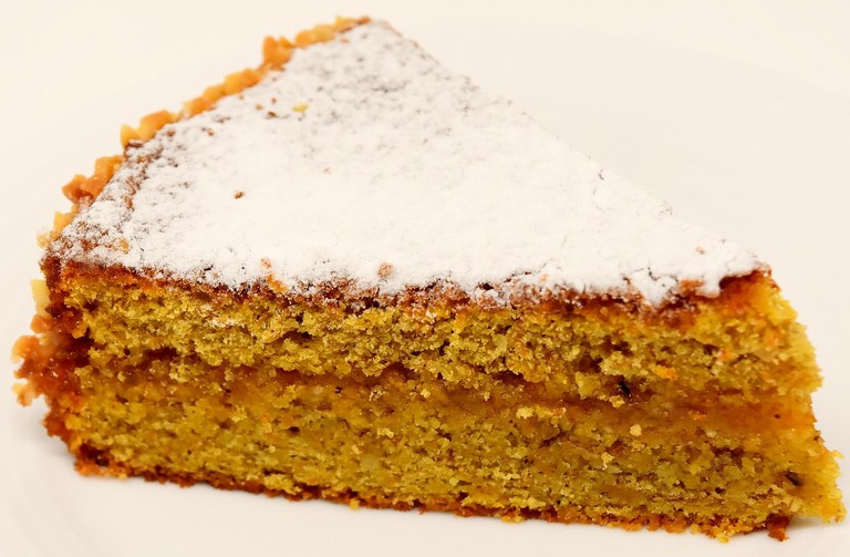A slice of organic carrot cake, one of the best desserts to eat at Dit'e'Nat