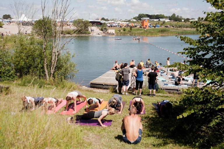 Camp site-Roskilde Festival-Music-Denmark