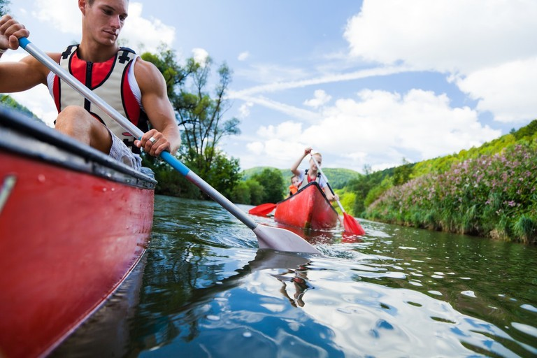 Enjoy canoeing with your friends or family