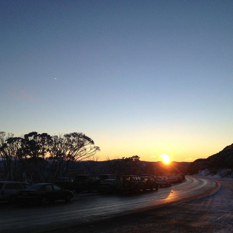 Getting to Hotham in the evening takes care