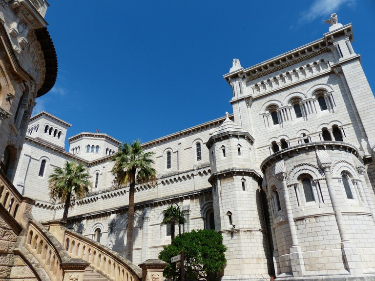 Side view of the cathedral in Monaco