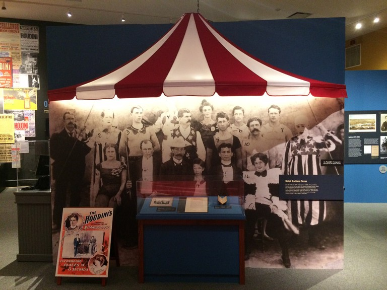 Circus tent, Harry Houdini, Houdini exhibit, Beatrice Houdini, Welsh Brothers Circus, Jewish Museum of Maryland