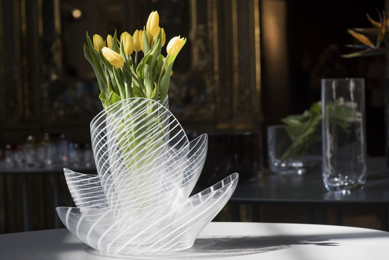 Ron Arad's Concentrics vases are made using an age-old Turkish glassblowing technique called 'çeşm-i bülbül', but he brings it into the 21st century