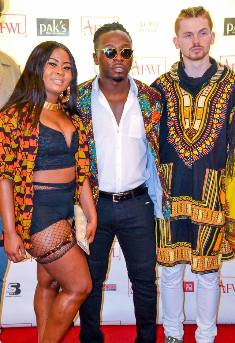 Guests wearing dashiki and ankara designs at the African Fashion Show in London