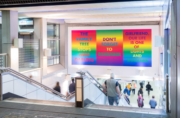 David McDiarmid, 'Rainbow Aphorisms', 1994. Commissioned by Art on the Underground in 2017