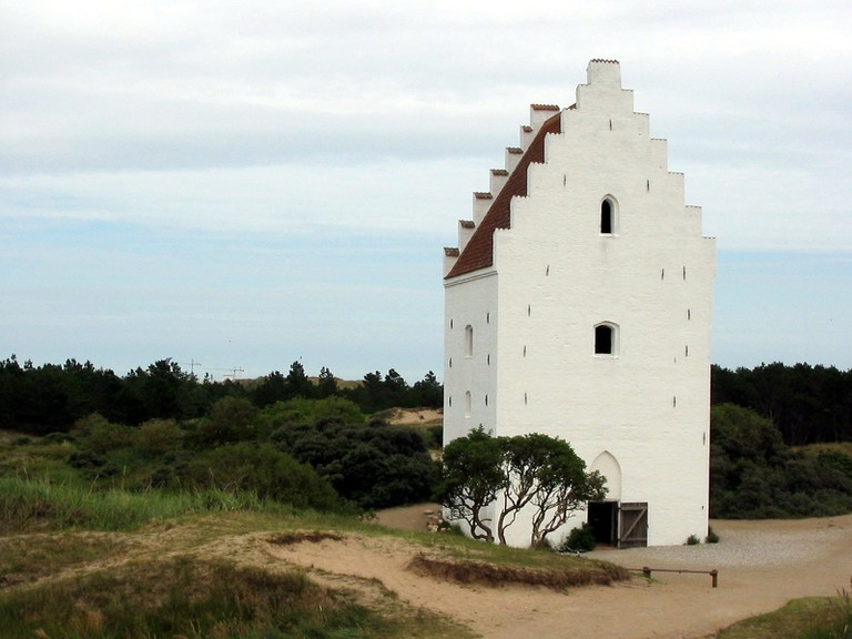 sand-covered church Råbjerg Mile