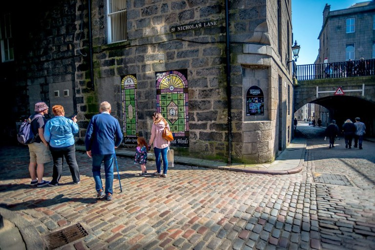 'We Are Witches' And 'Trailblazing Women Of Aberdeen' Ceramic Murals By Artist Carrie Reichardt For Nuart Aberdeen | © Brian Tallman Photography