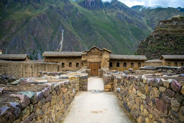 Crowd-free ruins in Ollantaytambo