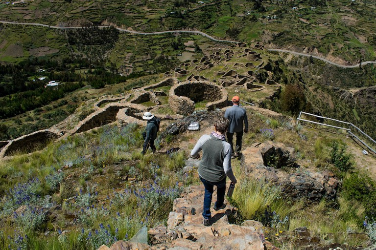 The Ancasmarcas ruins pre-date the Incas
