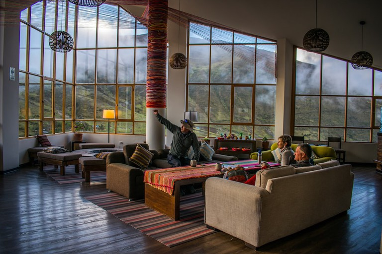 Luxury lodges await on the Lares trail to Machu Picchu