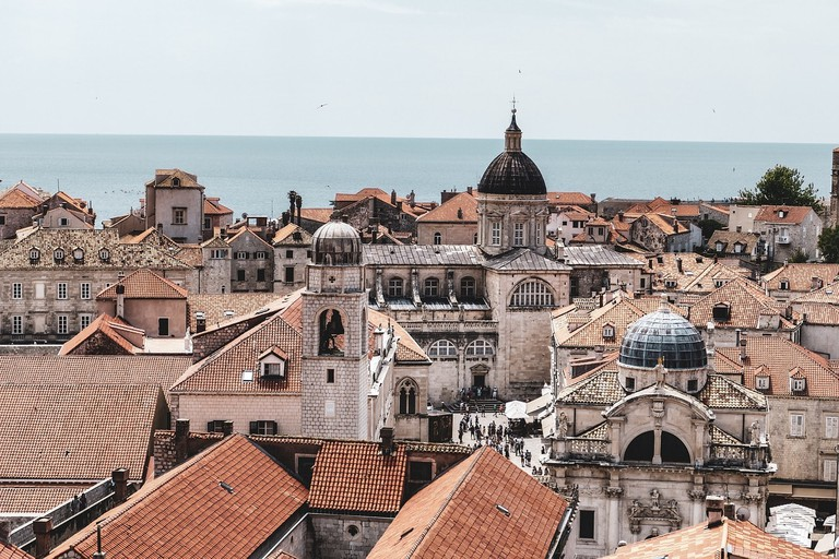 A view of Dubrovnik's famous red tiled roofs
