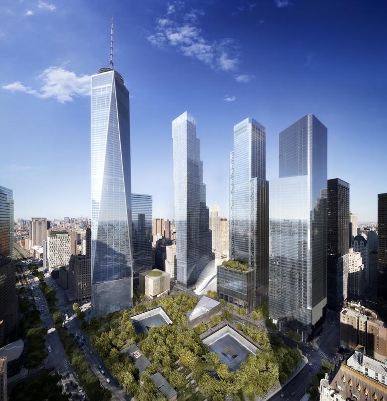 3 World Trade Center, right center