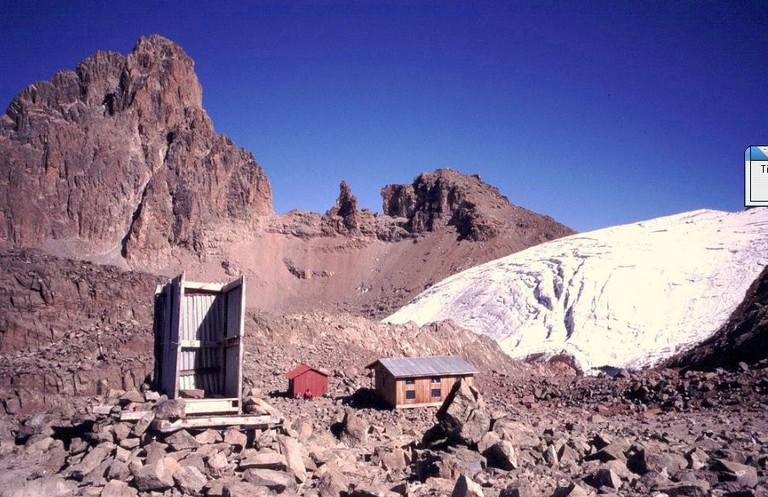 Rugged trail around Mount Kenya's top hut