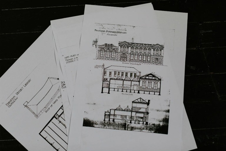Printed Architectural Plans Of Bridgeton District Library, c.1906. Selected By Finch & Fouracre