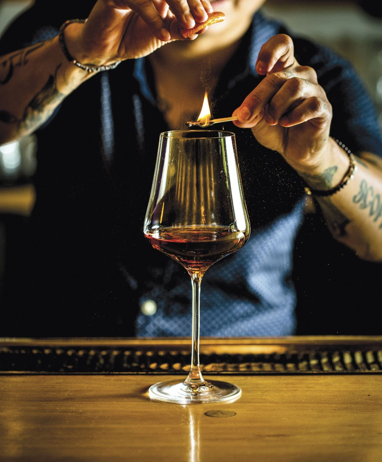 'The Brave' is a cocktail that highlights the flavor of pure mezcal