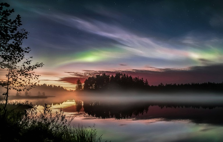Magical Northern Lights in Nurmes, Finland.