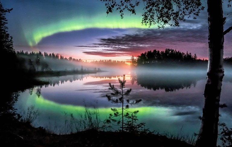 Spring and autumn are the best times to view Northern Lights in Finland.