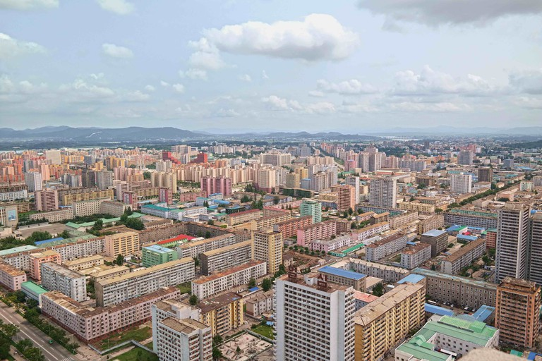 View from the top of the Tower of the Juche Idea in Pyongyang