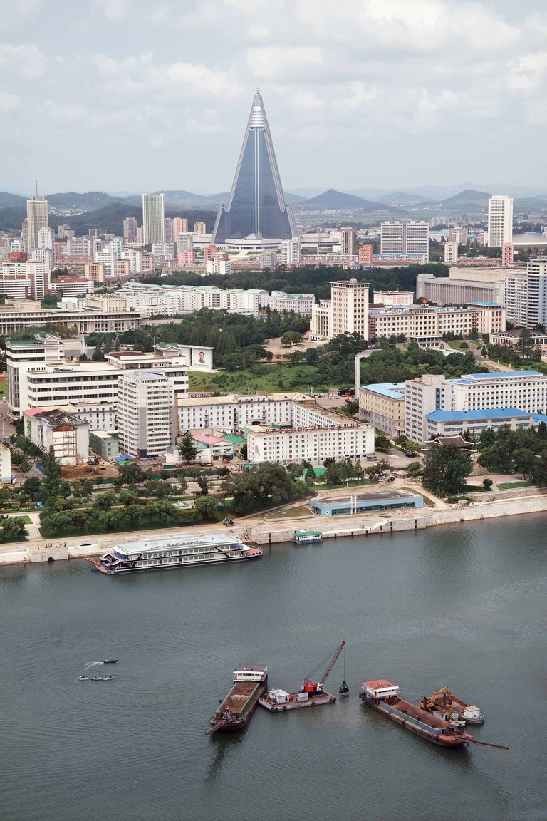 The Ryugyong Hotel (nicknamed the 'Hotel of Doom'), built in 1987, was intended to house 3,000 bedrooms and five revolving restaurants
