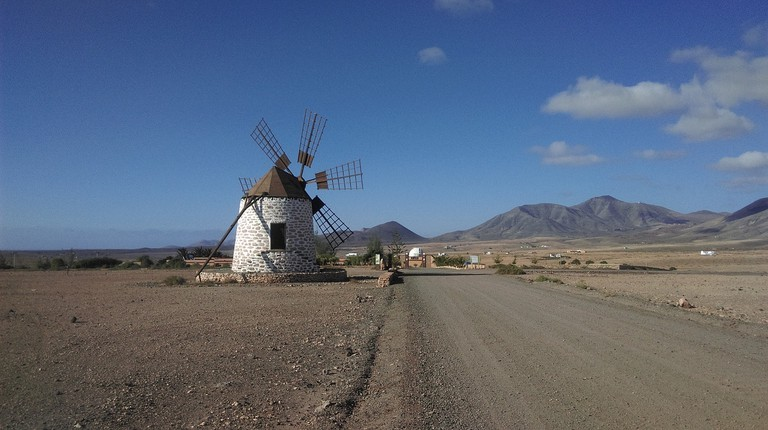windmill on Fuerteventura, Canary Islands