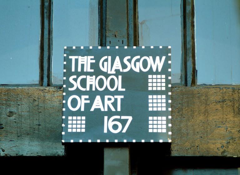 Glasgow School of art signage