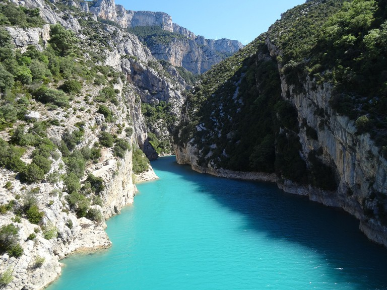 The almost fluorescent waters of the Gorges du Verdon