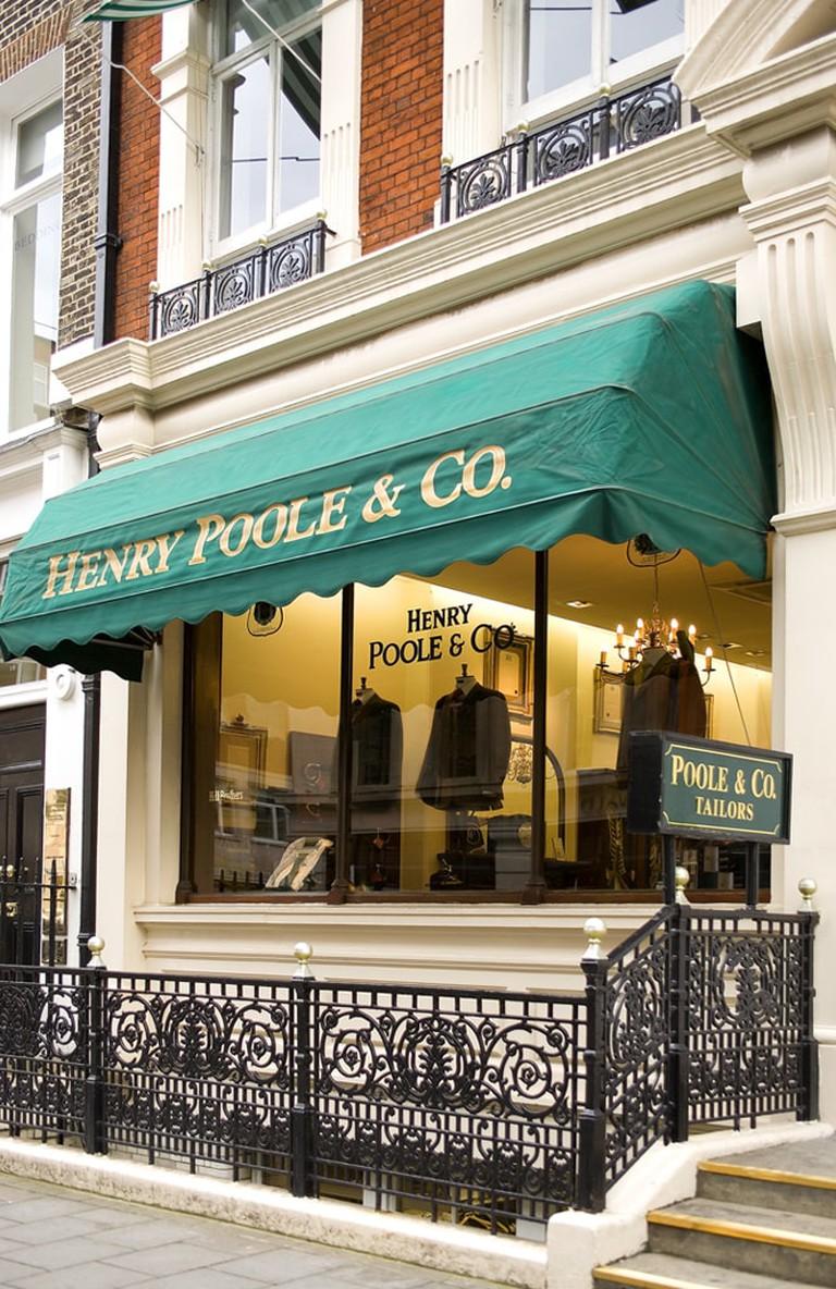Henry Poole shop front