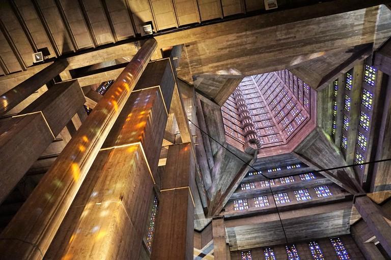 Inside St Joseph's spire