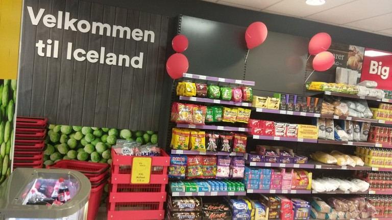 Inside the Iceland Foods store in Asker, Courtesy of Distrita Oslo