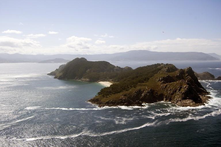 Islands of Cies, in the Atlantic Ocean, Spain