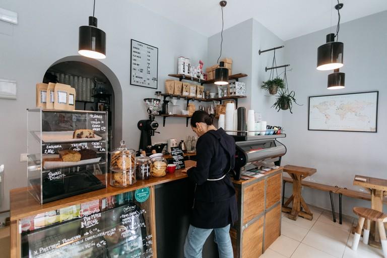 Santa Kafeina coffee shop and bakery in Madrid