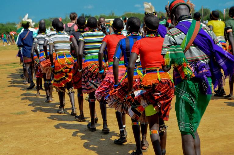 Vibrant colours at the Karamoja Cultural Event