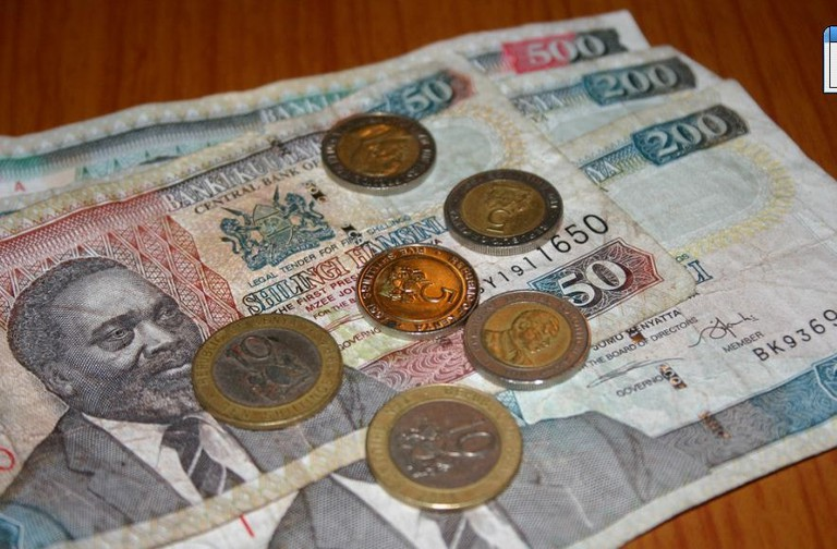 Some of Kenya's shilling bills and coins