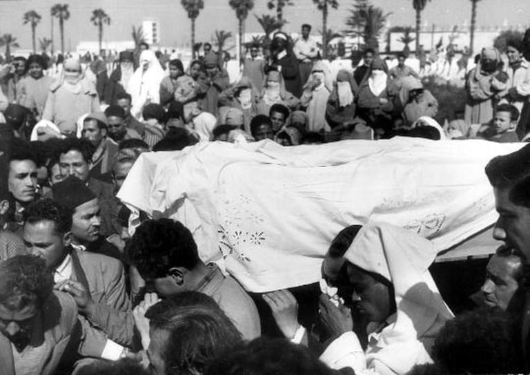 Touria Chaoui's funeral
