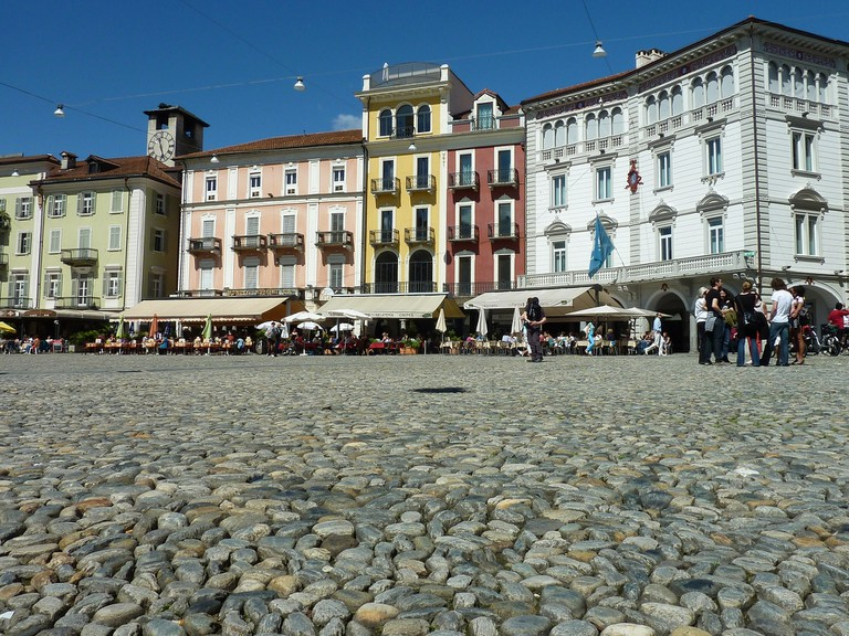 Piazza Grande in Locarno, Switzerland